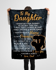 """DD008 GIFT FOR DAUGHTER Small Fleece Blanket - 30"""" x 40"""" aos-coral-fleece-blanket-30x40-lifestyle-front-14"""