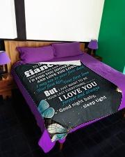 "FE011 - GIFT FOR FIANCEE Large Fleece Blanket - 60"" x 80"" aos-coral-fleece-blanket-60x80-lifestyle-front-01"