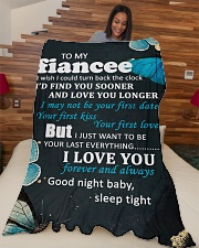 "FE011 - GIFT FOR FIANCEE Large Fleece Blanket - 60"" x 80"" aos-coral-fleece-blanket-60x80-lifestyle-front-04"