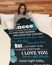 "FE011 - GIFT FOR FIANCEE Large Fleece Blanket - 60"" x 80"" aos-coral-fleece-blanket-60x80-lifestyle-front-05"