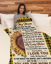 """MD001 - GIFT FOR MOM Large Fleece Blanket - 60"""" x 80"""" aos-coral-fleece-blanket-60x80-lifestyle-front-05"""