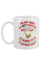 To My Son I Can't Promise To Fix All Your Problems Mug back