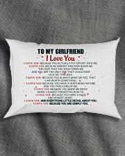MY GIRLFRIEND -  I LOVE YOU BECAUSE Rectangular Pillowcase aos-pillow-rectangle-front-lifestyle-1
