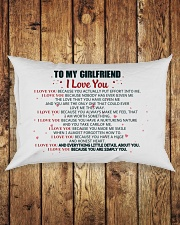 MY GIRLFRIEND -  I LOVE YOU BECAUSE Rectangular Pillowcase aos-pillow-rectangle-front-lifestyle-2