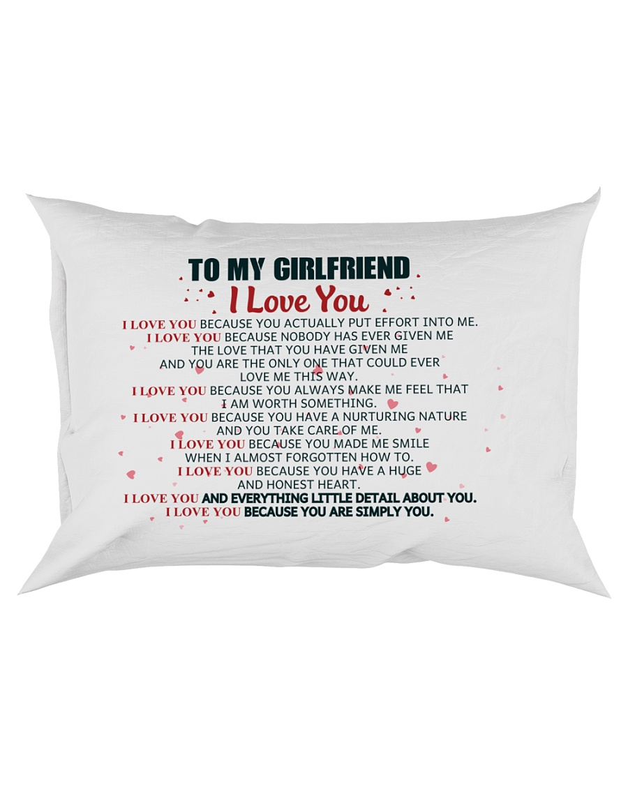 MY GIRLFRIEND -  I LOVE YOU BECAUSE Rectangular Pillowcase