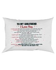 MY GIRLFRIEND -  I LOVE YOU BECAUSE Rectangular Pillowcase front