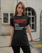 Relationship status single Classic T-Shirt apparel-classic-tshirt-lifestyle-19