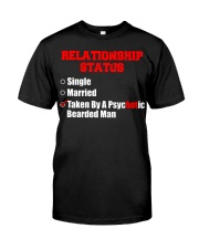 Relationship status single Classic T-Shirt front