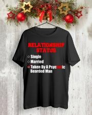 Relationship status single Classic T-Shirt lifestyle-holiday-crewneck-front-2