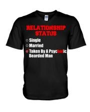 Relationship status single V-Neck T-Shirt thumbnail