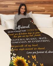"GF005 - GIFT FOR GIRLFRIEND Large Fleece Blanket - 60"" x 80"" aos-coral-fleece-blanket-60x80-lifestyle-front-05"