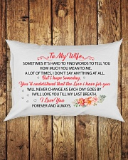 MY WIFE - I WILL LOVE YOU TILL MY LAST BREATH Rectangular Pillowcase aos-pillow-rectangle-front-lifestyle-2
