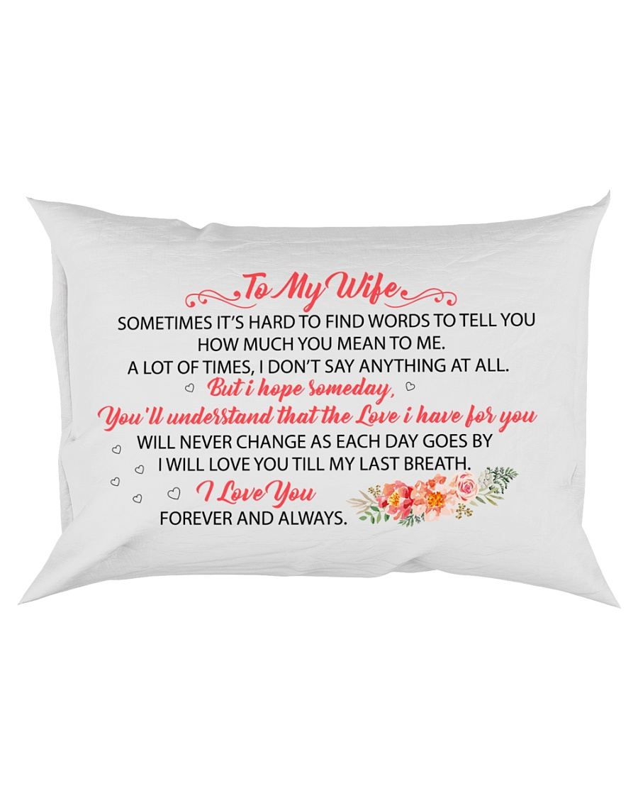 MY WIFE - I WILL LOVE YOU TILL MY LAST BREATH Rectangular Pillowcase