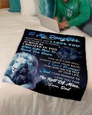 """DD024 GIFT FOR DAUGHTER Small Fleece Blanket - 30"""" x 40"""" aos-coral-fleece-blanket-30x40-lifestyle-front-07"""