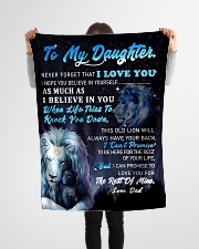 """DD024 GIFT FOR DAUGHTER Small Fleece Blanket - 30"""" x 40"""" aos-coral-fleece-blanket-30x40-lifestyle-front-14"""