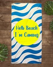 Dawn On The Beach Beach Towel aos-towelbeach-vertical-front-lifestyle-1