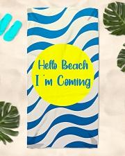 Dawn On The Beach Beach Towel aos-towelbeach-vertical-front-lifestyle-2