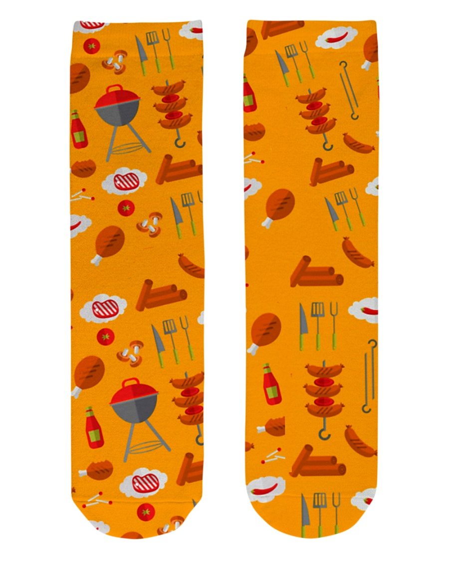 Grill Sausages Crew Length Socks