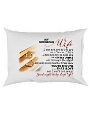 To My Gorgeous Wife Rectangular Pillowcase back