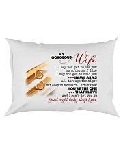 To My Gorgeous Wife Rectangular Pillowcase front