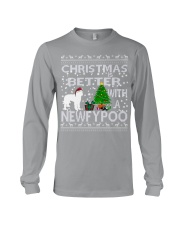 Christmas Is Better With A Newfypoo Long Sleeve Tee thumbnail