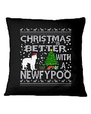 Christmas Is Better With A Newfypoo Square Pillowcase thumbnail