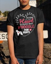 My Heart Paved With Whoodle Paw Prints Classic T-Shirt apparel-classic-tshirt-lifestyle-29