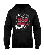 My Heart Paved With Whoodle Paw Prints Hooded Sweatshirt thumbnail