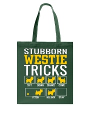 Stubborn Westie Tricks Tote Bag thumbnail