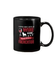 Woman Needs Wine And Frenchton Mug thumbnail