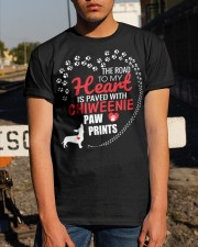 My Heart Paved With Chiweenie Paw Prints Classic T-Shirt apparel-classic-tshirt-lifestyle-29