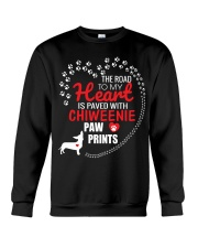 My Heart Paved With Chiweenie Paw Prints Crewneck Sweatshirt thumbnail
