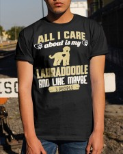 All I Care About Is My Labradoodle Classic T-Shirt apparel-classic-tshirt-lifestyle-29