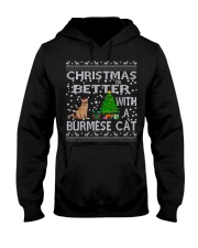 Christmas Is Better With A Burmese cat Hooded Sweatshirt thumbnail