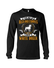 Rich And Famous WIth White Boxer Long Sleeve Tee thumbnail