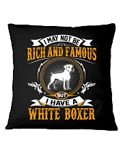 Rich And Famous WIth White Boxer Square Pillowcase thumbnail