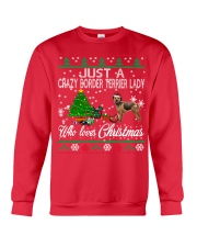 Crazy Lady Loves Border Terrier And Christmas Crewneck Sweatshirt front