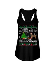 Crazy Lady Loves Border Terrier And Christmas Ladies Flowy Tank thumbnail