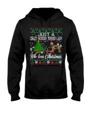 Crazy Lady Loves Border Terrier And Christmas Hooded Sweatshirt thumbnail