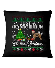 Crazy Lady Loves Border Terrier And Christmas Square Pillowcase thumbnail