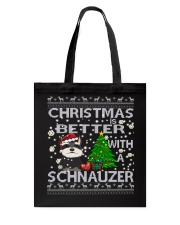 Christmas Is Better With A Schnauzer Tote Bag thumbnail