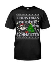 Christmas Is Better With A Schnauzer Classic T-Shirt thumbnail