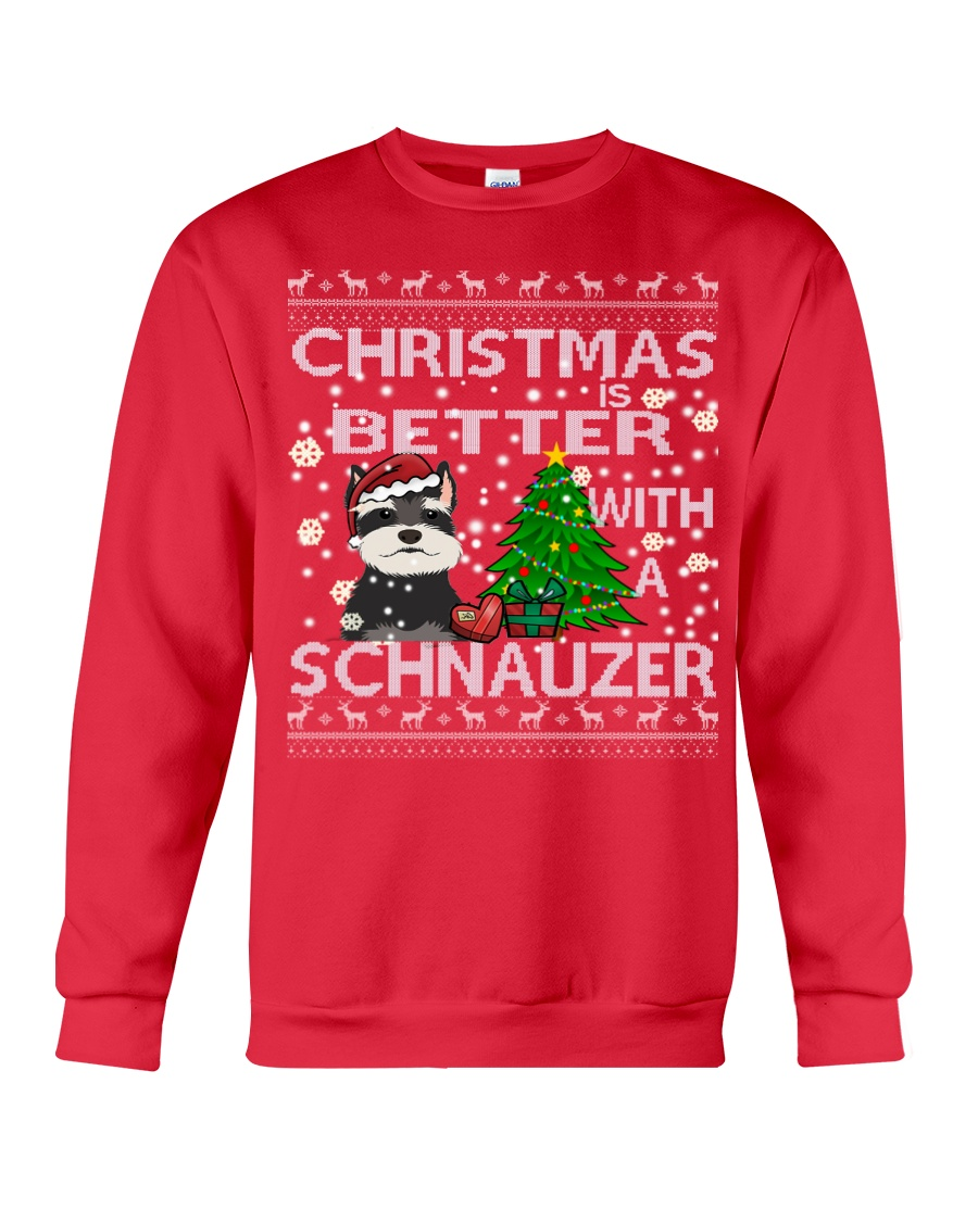 Christmas Is Better With A Schnauzer Crewneck Sweatshirt