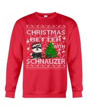 Christmas Is Better With A Schnauzer Crewneck Sweatshirt front