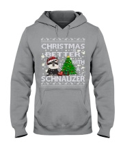 Christmas Is Better With A Schnauzer Hooded Sweatshirt thumbnail