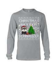 Christmas Is Better With A Schnauzer Long Sleeve Tee thumbnail