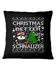 Christmas Is Better With A Schnauzer Square Pillowcase thumbnail