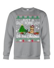Crazy Morkie Lady Who Loves Christmas Crewneck Sweatshirt tile