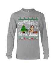Crazy Morkie Lady Who Loves Christmas Long Sleeve Tee thumbnail