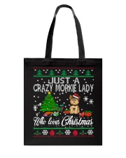 Crazy Morkie Lady Who Loves Christmas Tote Bag thumbnail